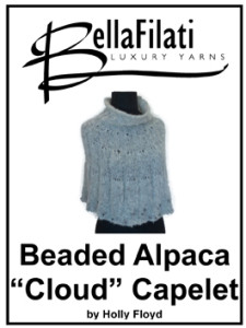 "Quick Knits Beaded Alpaca ""Cloud"" Capelet"